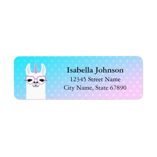 Llama Return Address Labels