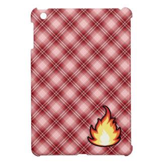 Llama roja del fuego de la tela escocesa iPad mini carcasas