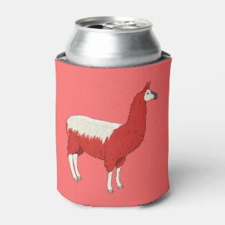Llama roja divertida enfriador de latas