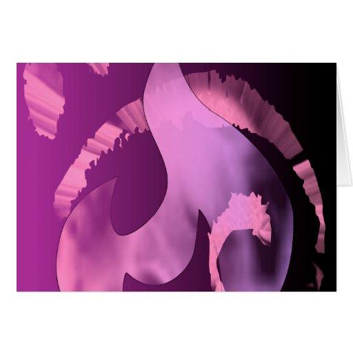 Llama rosada de Kiwear Tarjeta De Felicitación