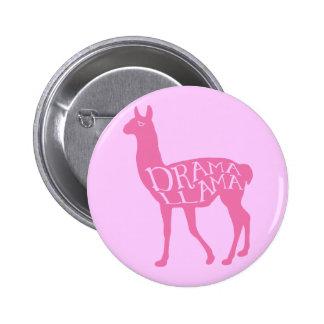 Llama rosada del drama pin