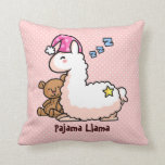 Llama rosada del pijama del gorra almohada