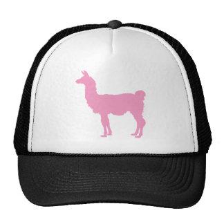 Llama rosada gorro