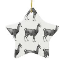 llama rows ceramic ornament