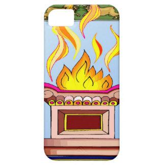 Llama sagrada iPhone 5 carcasas