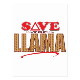 Llama Save Postcard