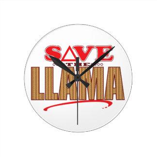 Llama Save Round Clock