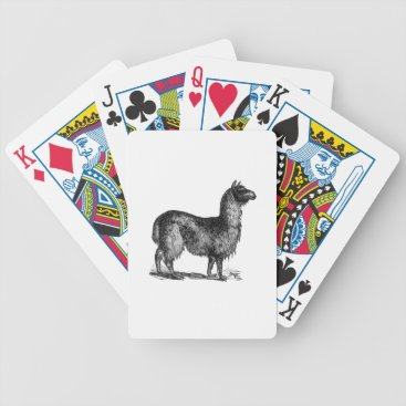 SimpleFunDesign Llama Sketch Design Bicycle Playing Cards