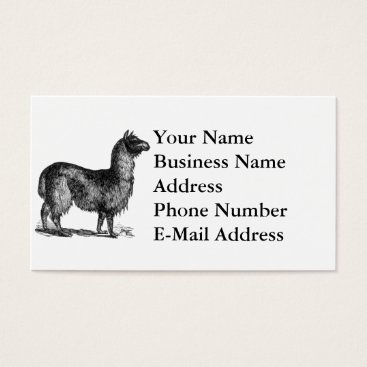 SimpleFunDesign Llama Sketch Design Business Card