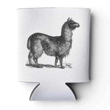 SimpleFunDesign Llama Sketch Design Can Cooler