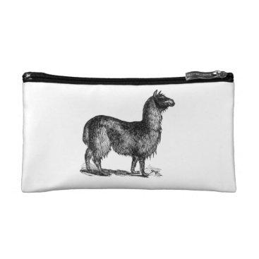 SimpleFunDesign Llama Sketch Design Cosmetic Bag