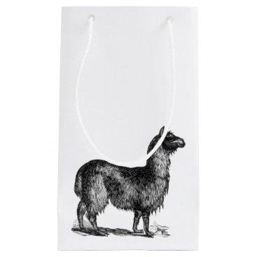 SimpleFunDesign Llama Sketch Design Small Gift Bag