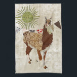 "Llama Sunshine White  Towel<br><div class=""desc"">Design by Nicole King &#169;2012 Custom Designs Available upon request</div>"