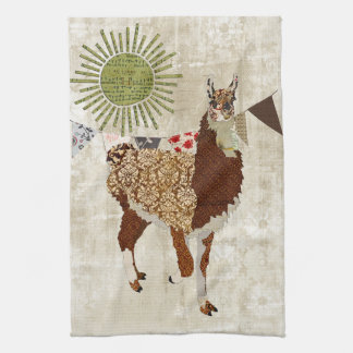 Llama Sunshine White  Towel