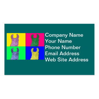 Llama Sweet Pea: The Colorful Matriarch Llama Business Card