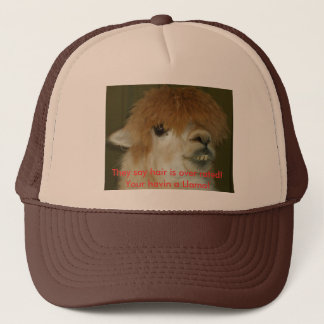 LLama, They say hair is over rated! Your havi... Trucker Hat