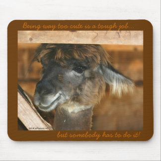 Llama Too Cute Funny Animal Mousepad