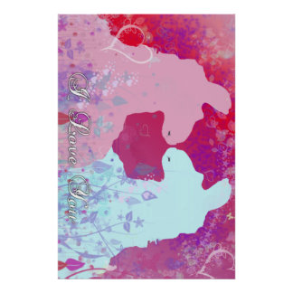 Llama: Una tarjeta del día de San Valentín de la l Póster