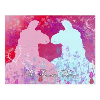 Llama: Una tarjeta del día de San Valentín de la Postales
