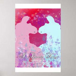 Llama: Una tarjeta del día de San Valentín de la Póster