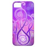 Llama violeta/fuego violeta iPhone 5 Case-Mate cárcasa