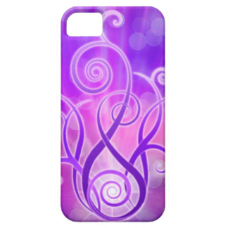 Llama violeta/fuego violeta funda para iPhone SE/5/5s