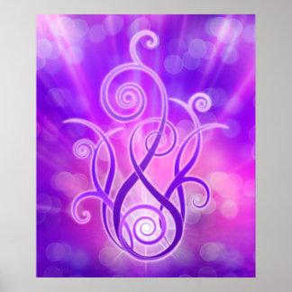 Llama violeta/fuego violeta posters