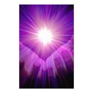 llama violeta papeleria personalizada