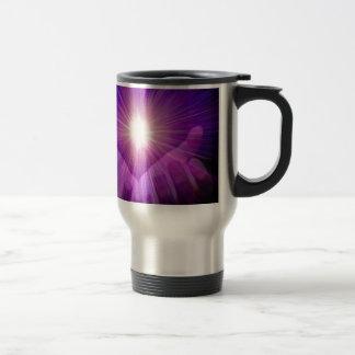 llama violeta tazas
