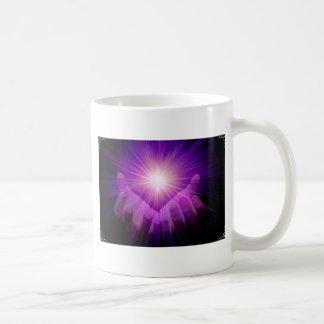 llama violeta taza de café