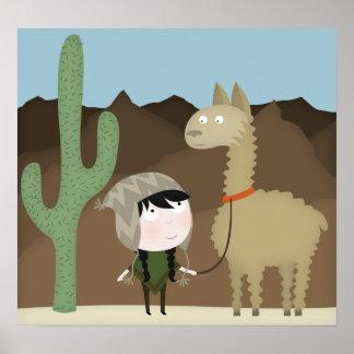 Llama walker (large poster) poster