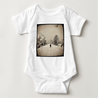 llama winter baby bodysuit