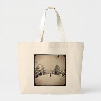 llama winter large tote bag