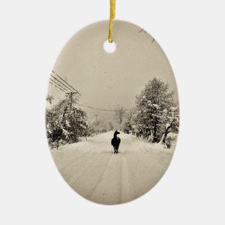 llama winter ornaments