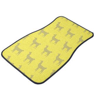 Llama Yellows Floor Mat