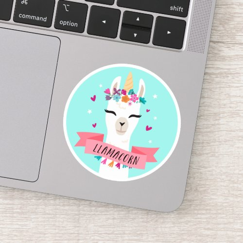 Llamacorn Cute Kawaii Unicorn Llama Sticker