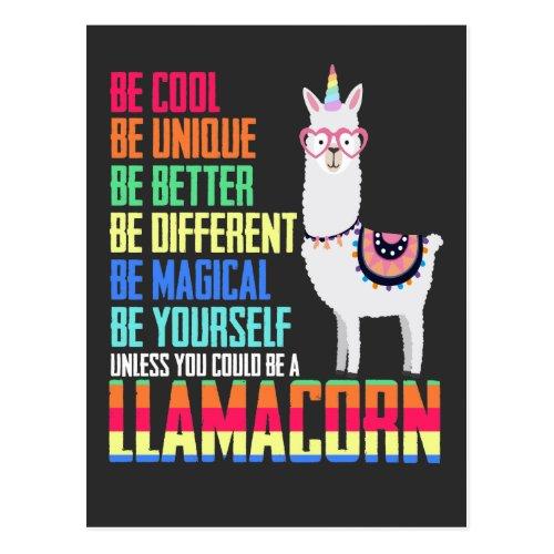 Llamacorn Funny Cute Llama Unicorn Postcard