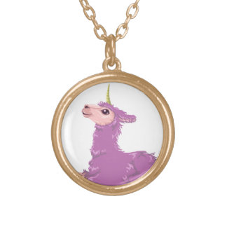 Llamacorn Gold Plated Necklace
