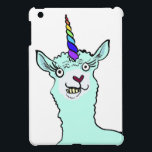 "Llamacorn iPad Mini Cover<br><div class=""desc"">A magical Llamacorn,  with a rainbow horn,  a heart shaped nose,  and a Llama pose :)</div>"