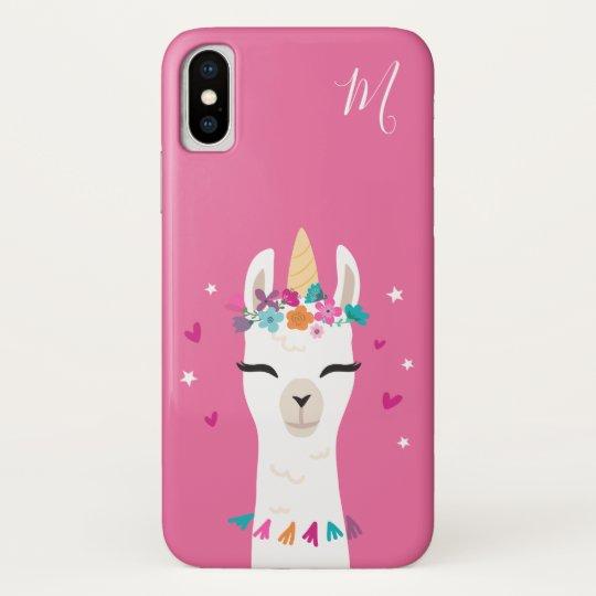 ab6137429 Llamacorn | Kawaii Cartoon Unicorn Llama Monogram Case-Mate iPhone Case