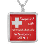 Llamada 911 de ALD Adrenoleukodystrophy Pendientes Personalizados