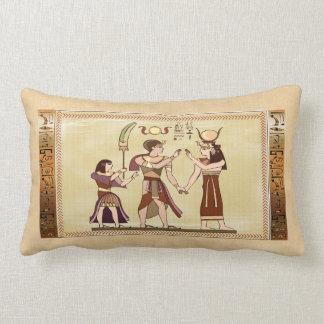 Llamada a la decoración egipcia del arte popular almohada
