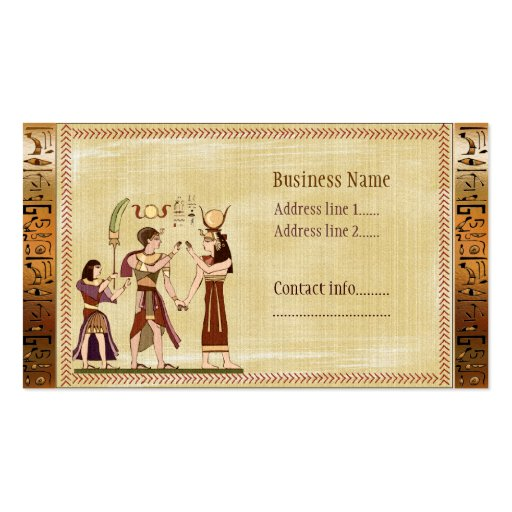 Llamada a la plantilla del egipcio de dioses tarjetas de visita