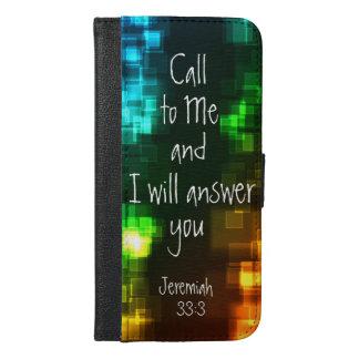 Llamada a mí 33:3 de Jeremiah del verso de la