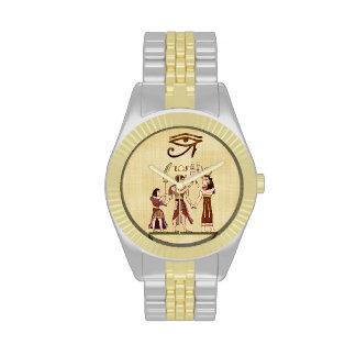 Llamada al arte popular egipcio de dioses relojes de mano