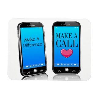 Llamada alguien - haga su recordatorio del día imán foto rectangular