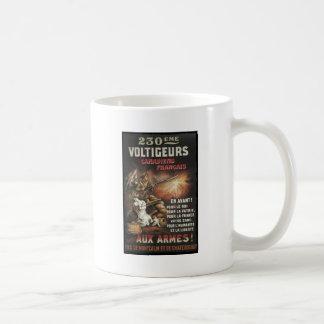 Llamada canadiense y francés para mantener WWI Taza De Café