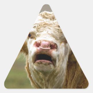 Llamada de Bull Pegatina Triangular