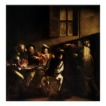 Llamada de Caravaggio de St Matthew Poster