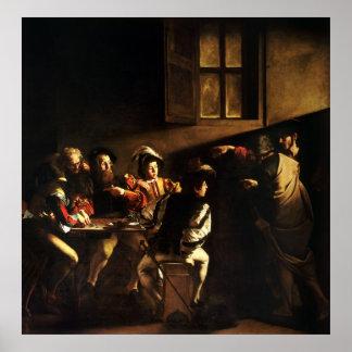 Llamada de Caravaggio de St Matthew Póster